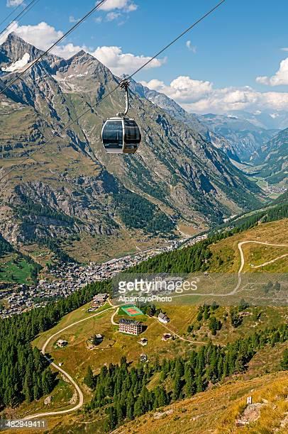 Tramway (téléphérique) en direction de Furi-Zermatt-XXI