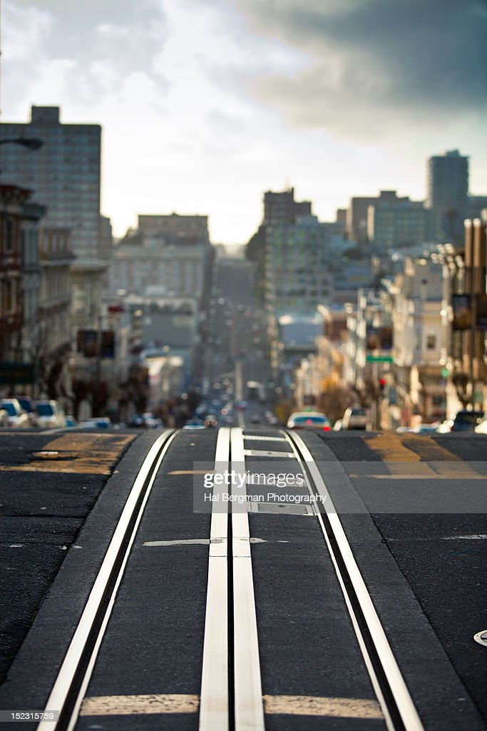 Cable car track