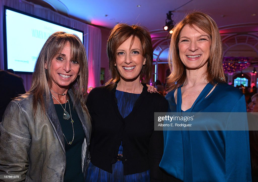 Cable Entertainment and Cable Studios Chariman Bonnie Hammer, Co-Chair of Disney Media Networks and President of Disney-ABC Television Group Anne Sweeney and Academy of Motion Picture Arts and Sciences CEO Dawn Hudson attend The Hollywood Reporter's 'Power 100: Women In Entertainment' Breakfast at the Beverly Hills Hotel on December 5, 2012 in Beverly Hills, California.