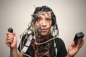 guy de télévision par câble