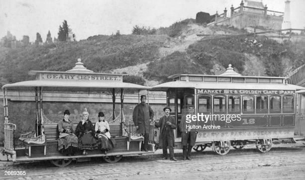 A cable street car in San Francisco California