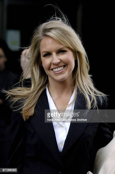 Cable television and radio personality Monica Crowley leaves Manhattan court where she testified that she was stalked by Ronald Martin over the...