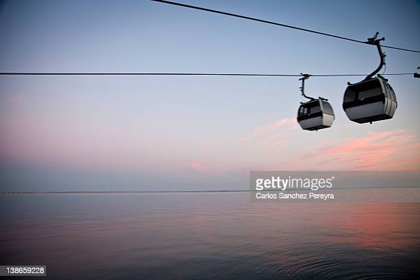 Cable-car and Tagus river