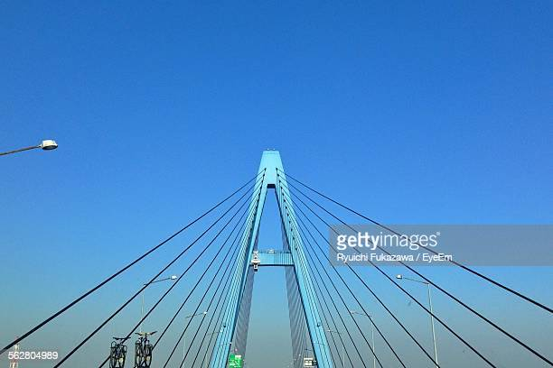 Cable-Stayed Bridge Against Clear Blue Sky