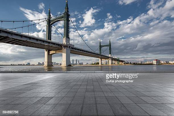 Cable-stayed bridge and pavement