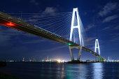 Cable-stayed bridge / Meiko Triton