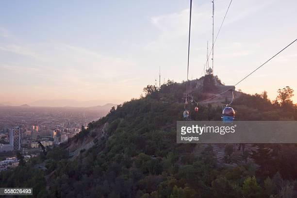 Cableway in San Cristobal Hill cable car Santiago Metropolitan Region Chile