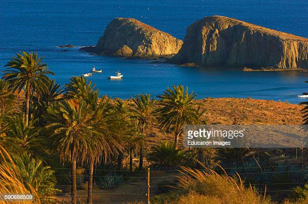 Cabo de Gata Isleta del Moro fishing village Cabo de GataNijar Natural Park Almeria Spain Europe