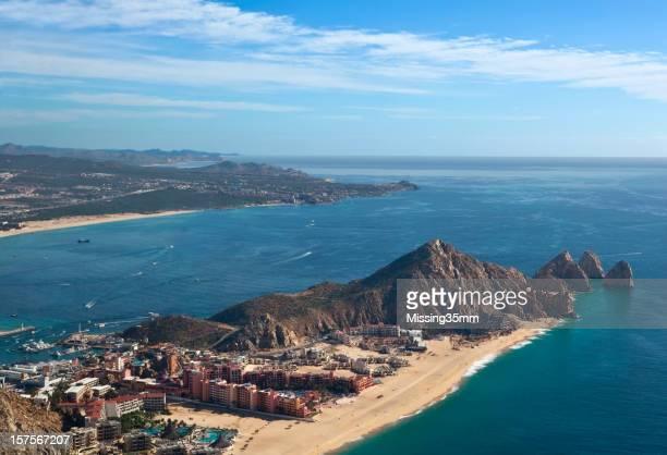 Cabo de San Lucas Baía e Vista aérea de Land's End