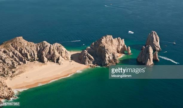 Cabo San Lucas Bay y Land's End desde el aire
