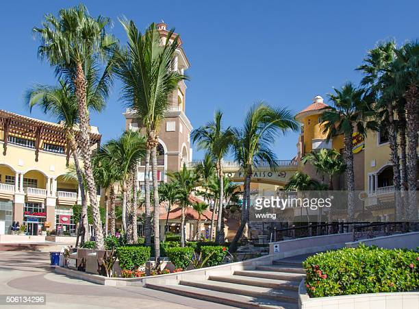 Cabo San Lucas boardwalk and entrance to the shopping mall