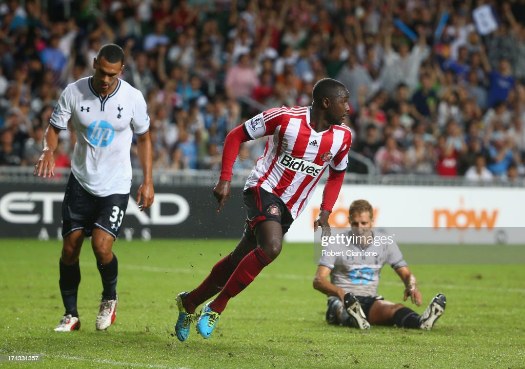Cabral of Sutherland celebrates after he scored during the Barclays Asia Trophy Semi Final match between Tottenham Hotspur and Sunderland at Hong Kong Stadium on July 24, 2013 in So Kon Po, Hong Kong.