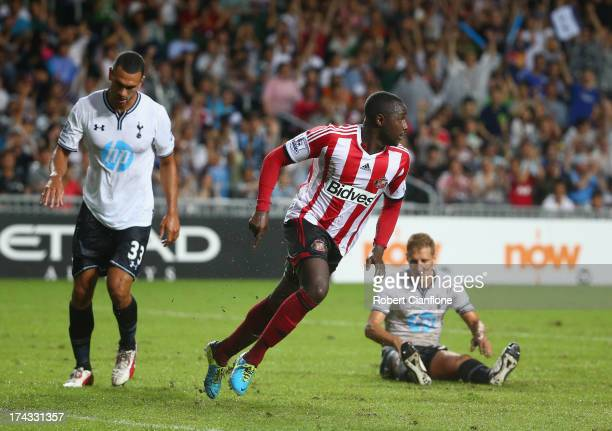 Cabral of Sutherland celebrates after he scored during the Barclays Asia Trophy Semi Final match between Tottenham Hotspur and Sunderland at Hong...
