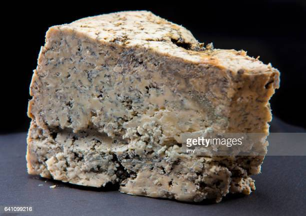Cabrales cheese in black background