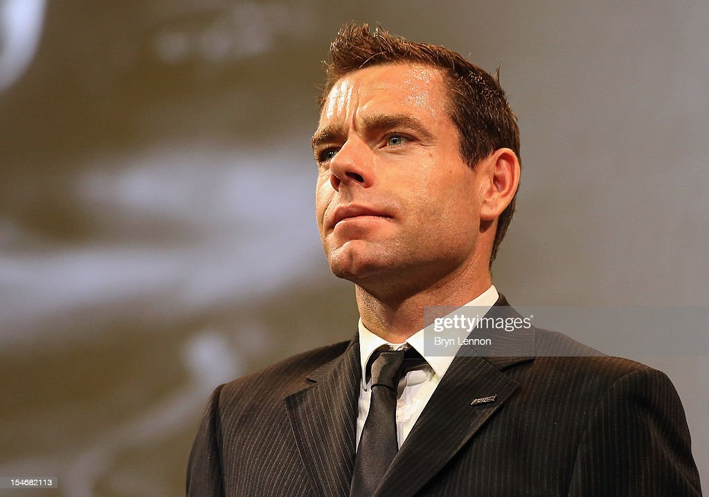 Cadel Evans of Australia attends the 2013 Tour de France Route Presentation at the Palais des Congres de Paris on October 24, 2012 in Paris, France.