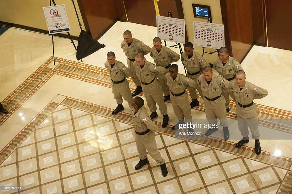Cadets attend the 2013 ChalleNGe Champions Gala at JW Marriott Hotel on February 26, 2013 in Washington, DC.
