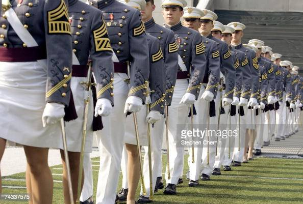 Cadets march into Michie Stadium during the graduation ceremony at the US Military Academy May 26 2007 at Michie Stadium in West Point New York The...