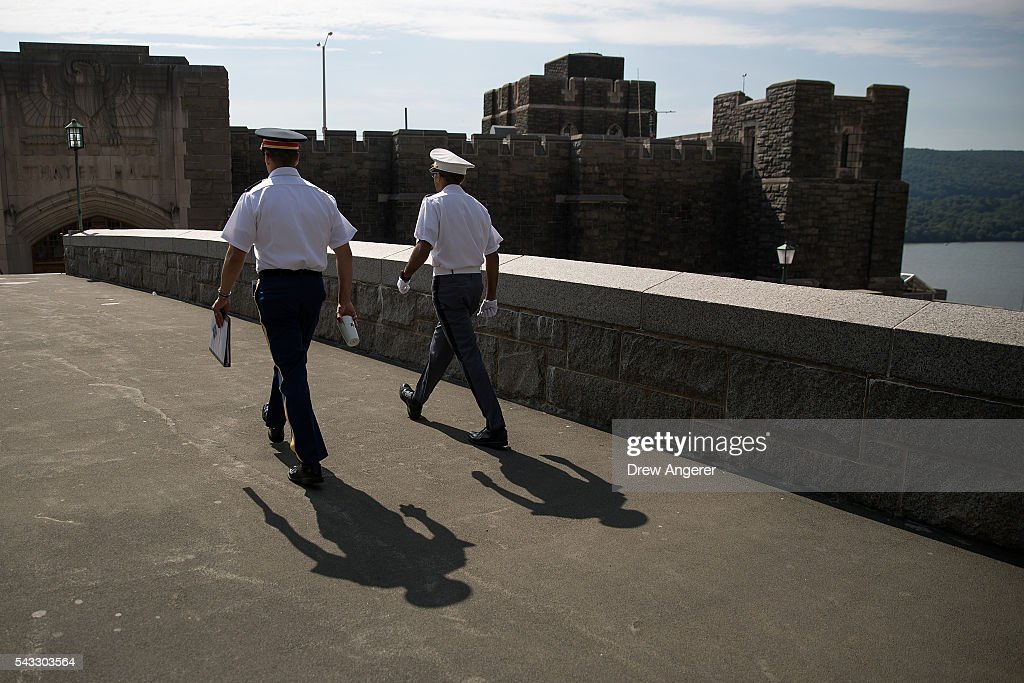 Cadets walk on campus during Reception Day at the United States Military Academy at West Point, June 27, 2016 in West Point, New York. Reception Day is the day when new cadets report to West Point to begin the process of becoming West Point cadets and future U.S. Army officers. Upwards of 1,300 cadet candidates for the class of 2020 will report to West Point on Monday. The new cadets will begin six weeks of basic training before Acceptance Day in early August.