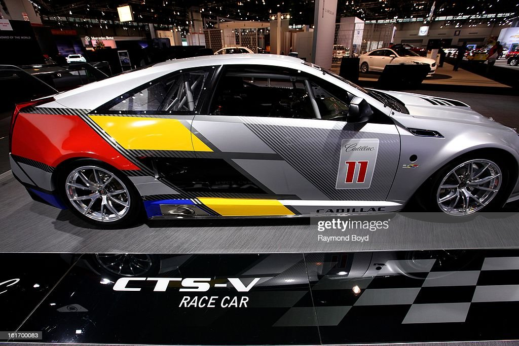Cadillac CTS-V Race Car, at the 105th Annual Chicago Auto Show at McCormick Place in Chicago, Illinois on FEBRUARY