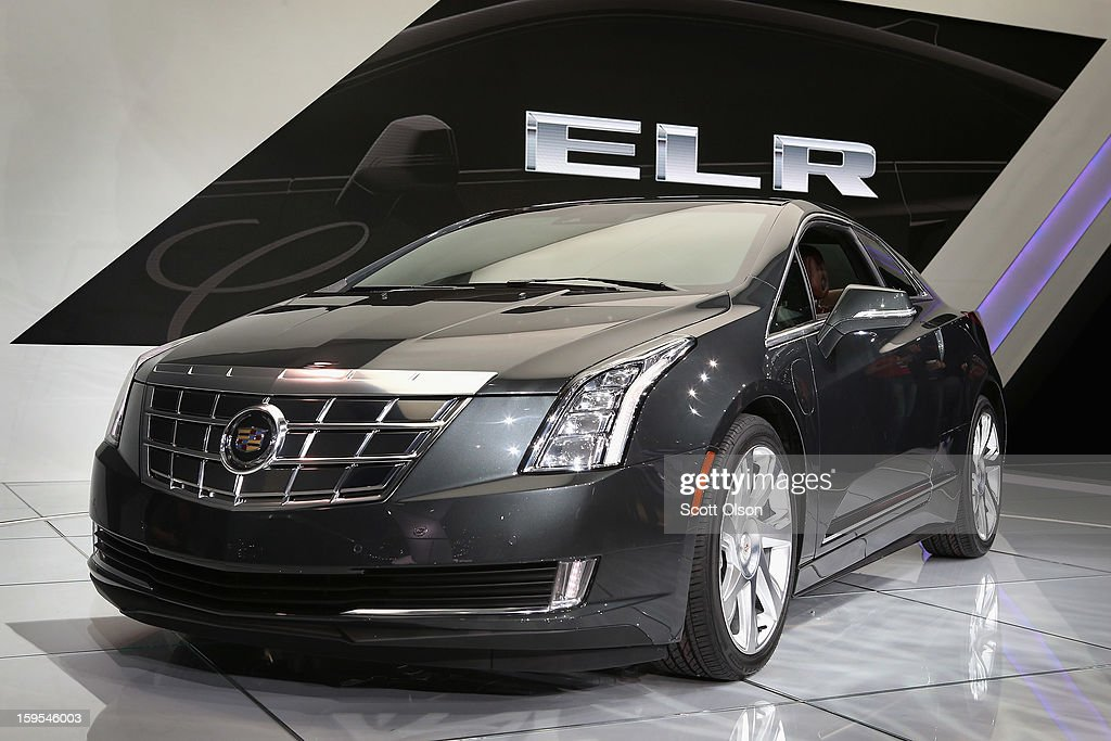 Cadillac shows off their ELR extended-range luxury hybrid, during the media preview at the North American International Auto Show on January 15, 2013 in Detroit, Michigan. The auto show will be open to the public January 19-27.