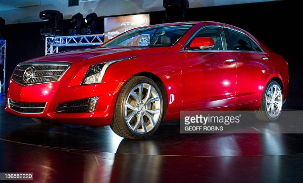 Cadillac unveils its new ATS compact luxury sedan during its world premier at the College for Creative Studies in Detroit Michigan on the eve of the...