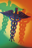 Caduceus with shadows