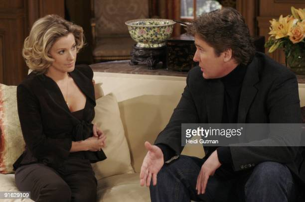 Cady McClain and Michael E Knight in a scene that airs the week of January 22 2007 on ABC Daytime's 'All My Children' 'All My Children' airs...