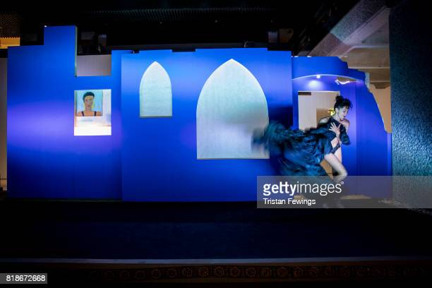 Caen Amour is performed at Trajal Harrell Hoochie Koochie A performance exhibition at Barbican Art Gallery on July 18 2017 in London England The...