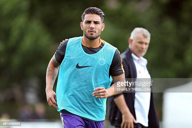 Caen's Andy Delort is pictured before a friendly football game between SM Caen and Angers SCO on July 22 2015 in Alencon northwestern France AFP...