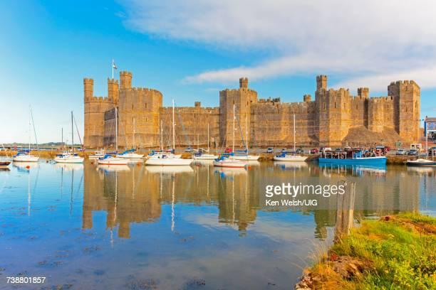 'Caernarfon, Wales, UK. The castle.'