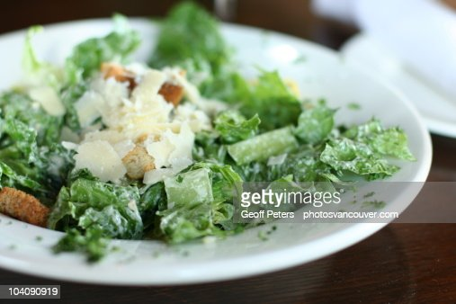 Caesar salad with parmesan cheese : Foto de stock