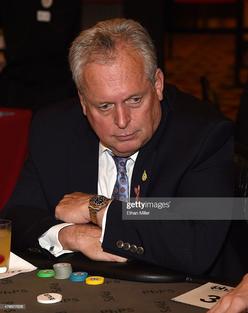 Caesars Entertainment Corp Global President Tom Jenkin participates in the TJ Martell Foundation's second annual Chad Brown Memorial Poker Tournament...