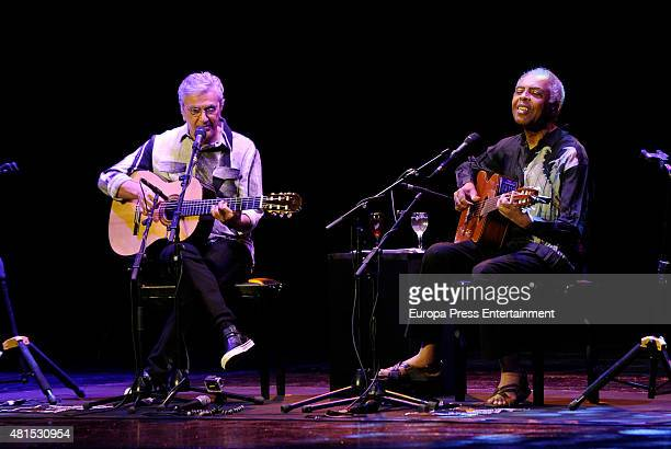 Caetano Veloso and Gilberto Gil perform during Caetano Veloso Gilberto Gil concert on July 21 2015 in Madrid Spain
