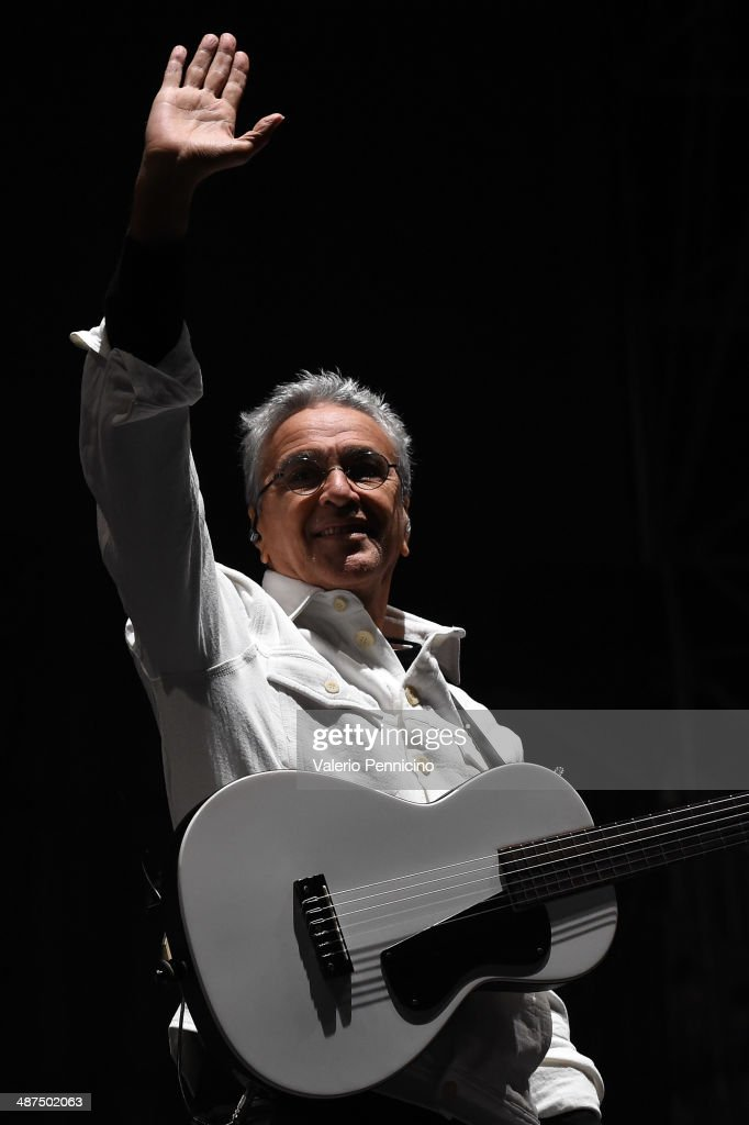 Caetano Veloso performs during Torino Jazz Festival at Piazza Castello on April 30, 2014 in Turin, Italy.