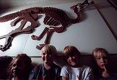 CAFamilyFair10905BCAt the Glendora studio of Wayne Kalama a simulated Corythosaurus skeleton appears to vault over group of youngsters Rebecca Tuala...