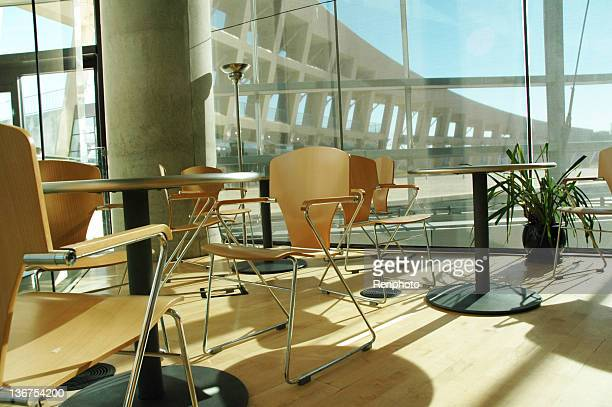 Café in der Bibliothek
