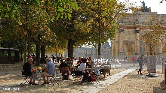 Cafe at  Tuileries Garden, Paris, France