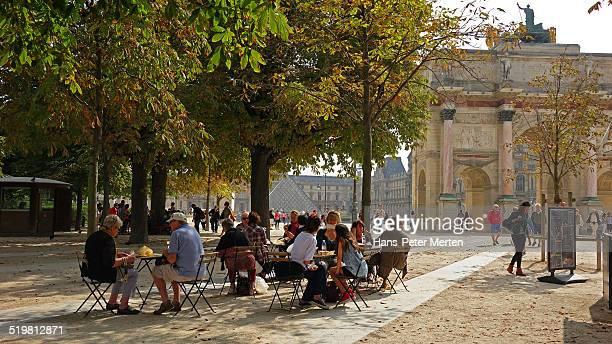Cafe at  Tuileries Garden, Paris, France