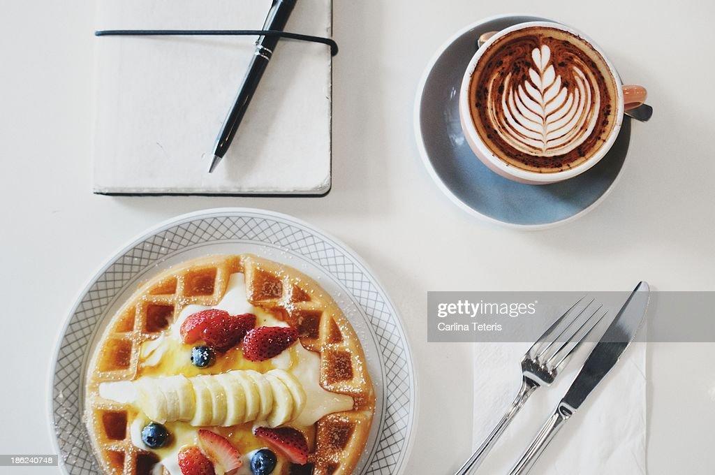 Cafe breakfast : Stock Photo