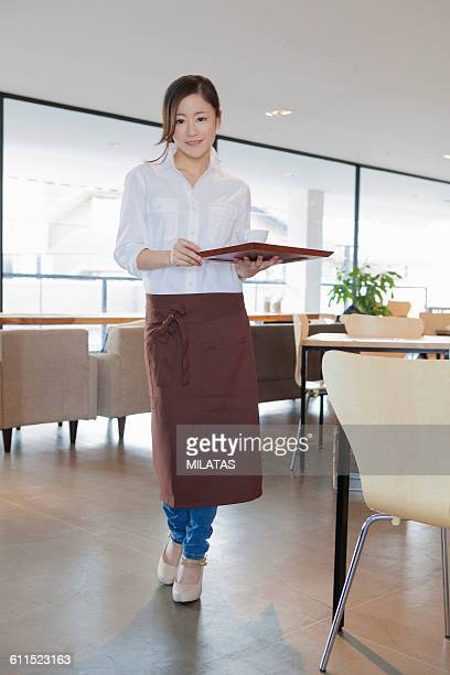 Cafe clerk of Japanese woman
