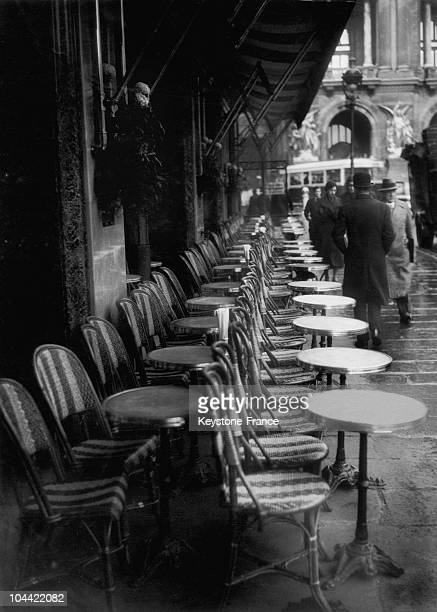 Cafe De La Paix Place De L'Opera In Paris In 1934
