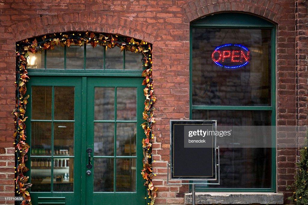 & Cafe Door Window Stock Photo | Getty Images Pezcame.Com
