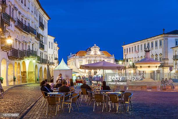 Cafe, Giraldo Square, Evora, Alentejo, Portugal