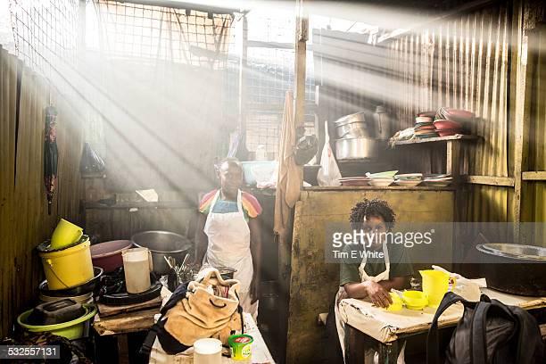 Cafe in Market, Nairobi, Kenya
