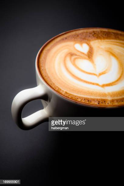 Cafe Latte Art con un cuore