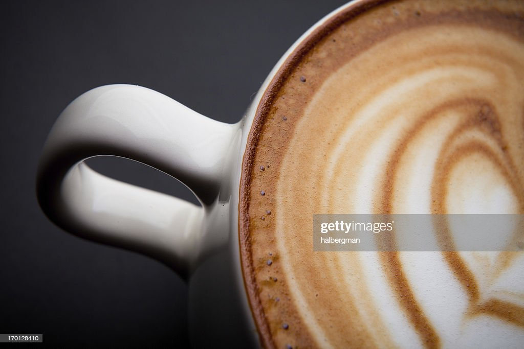 Cafe Latte Foam Art : Stock Photo
