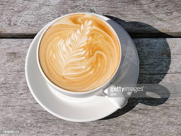 Café Latte und Neuseeland Fern in Creme (XXXL