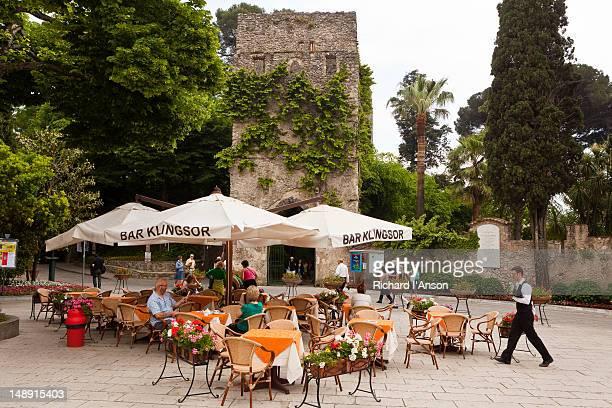 Cafe on Piazza Duomo, Amalfi Coast.
