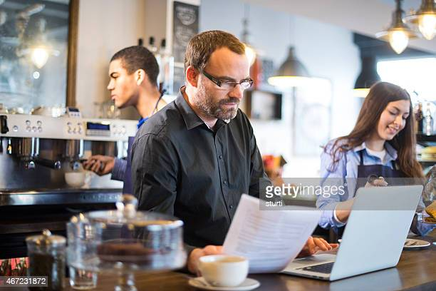 cafe owner ordering fresh produce