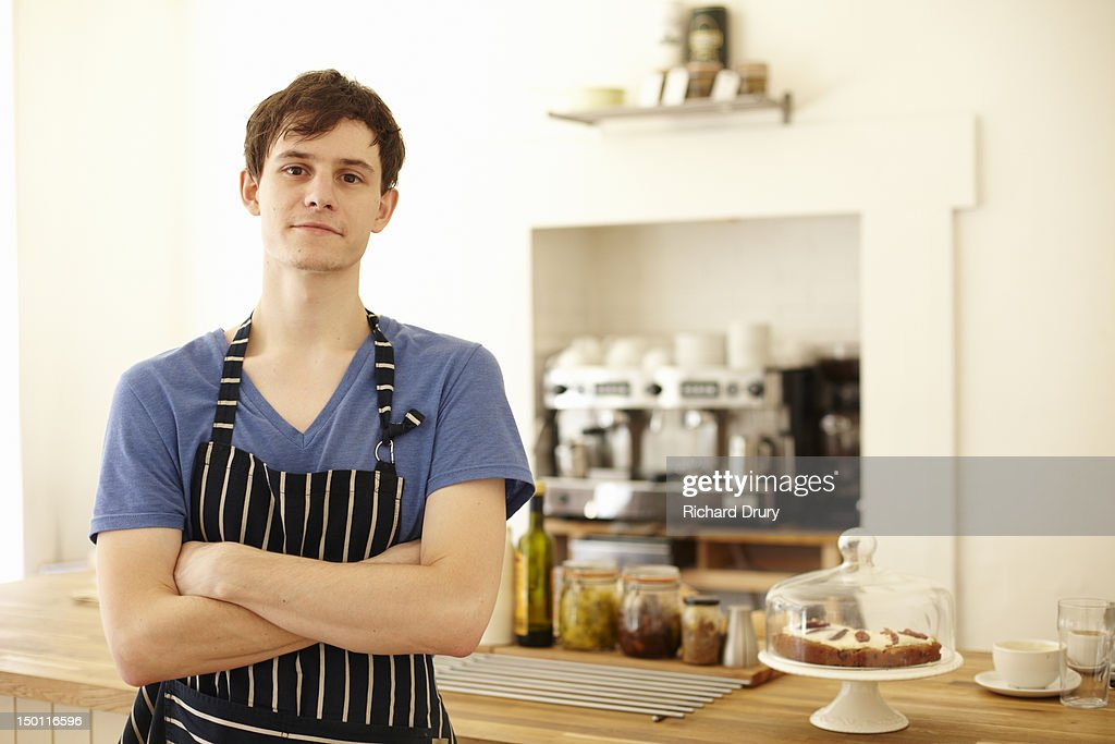 Cafe Owner : Stock Photo